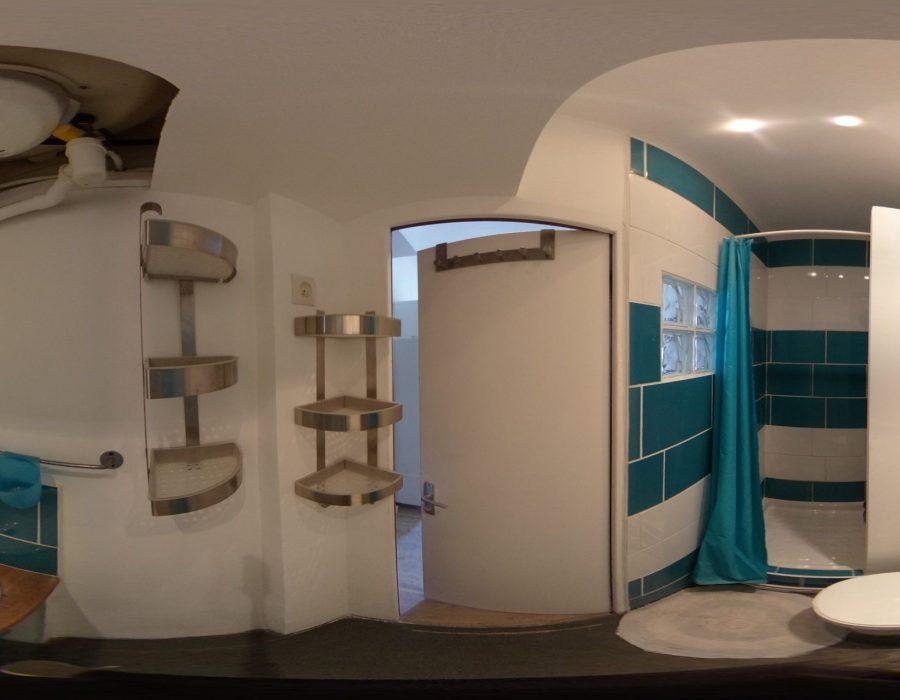 salle de bain rénovée studio
